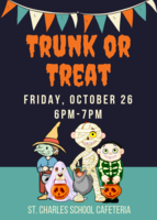 Trunk or Treat Friday, Oct. 26th!