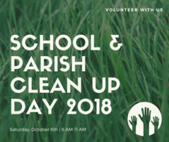 School & Parish Clean Up Day - October 6th!